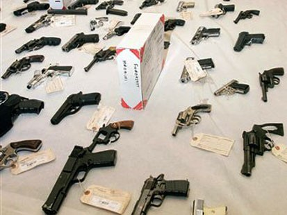 legalization of guns speech A good way to prevent the rise of gun crime would be to have serial numbers registered on a national database, also all ammunition should have a batch number and registered to the gun and buyer when purchased, or even putting microchips in all guns sold in the uk similar to ones found in dogs.